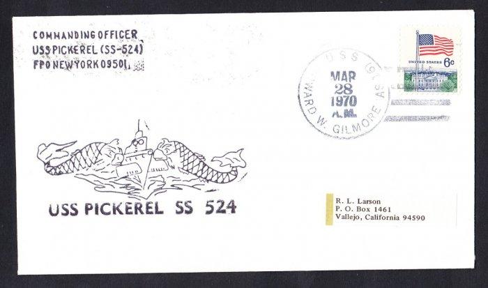 USS PICKEREL SS-524 USS Howard Gilmore 1970 Naval Submarine Cover