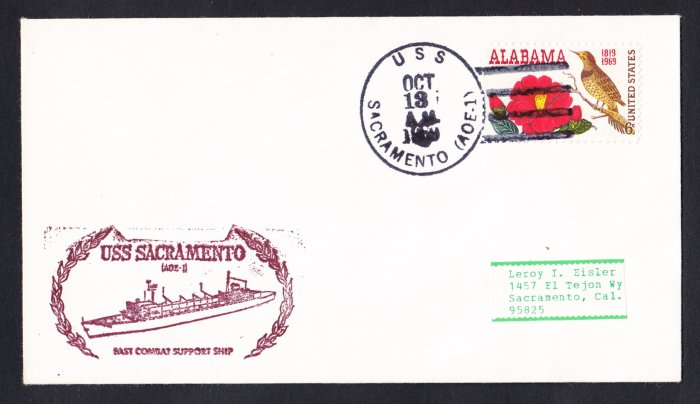 USS SACRAMENTO AOE-1 Naval Cover