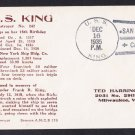 USS KING DD-242 15th Anniversary 1935 Naval Cover