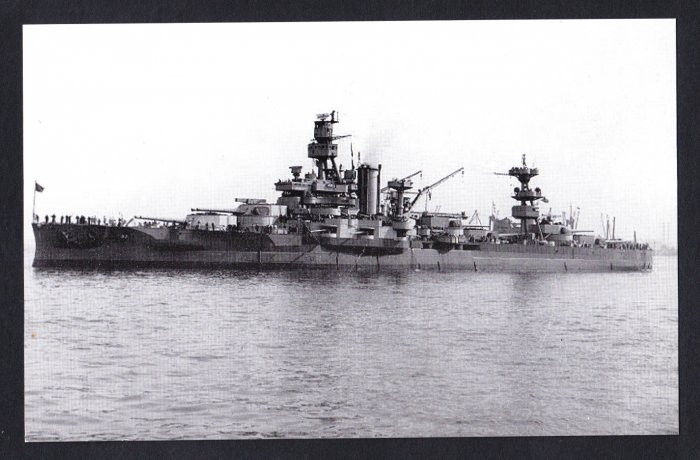 USS ARKANSAS BB-33 Battleship Navy Ship Postcard