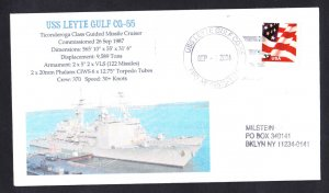 USS LEYTE GULF CG-55 Naval Cover MHcachets ONLY 1 MADE