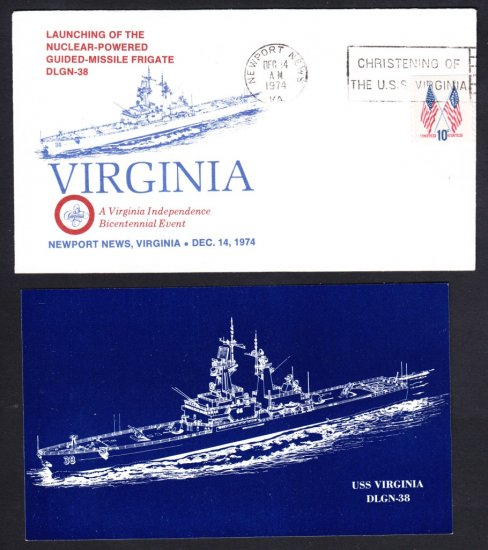USS VIRGINIA CGN-38 Launching Naval Cover