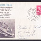 USS COLONIAL LSD-18 1946 Naval Cover MHcachets ONLY 1 MADE