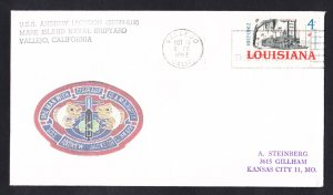 USS STONEWALL JACKSON SSBN-619 Naval Submarine Cover MHcachets ONLY 1 MADE