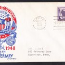#957 WISCONSIN STATEHOOD Stamp STAEHLE First Day Cover