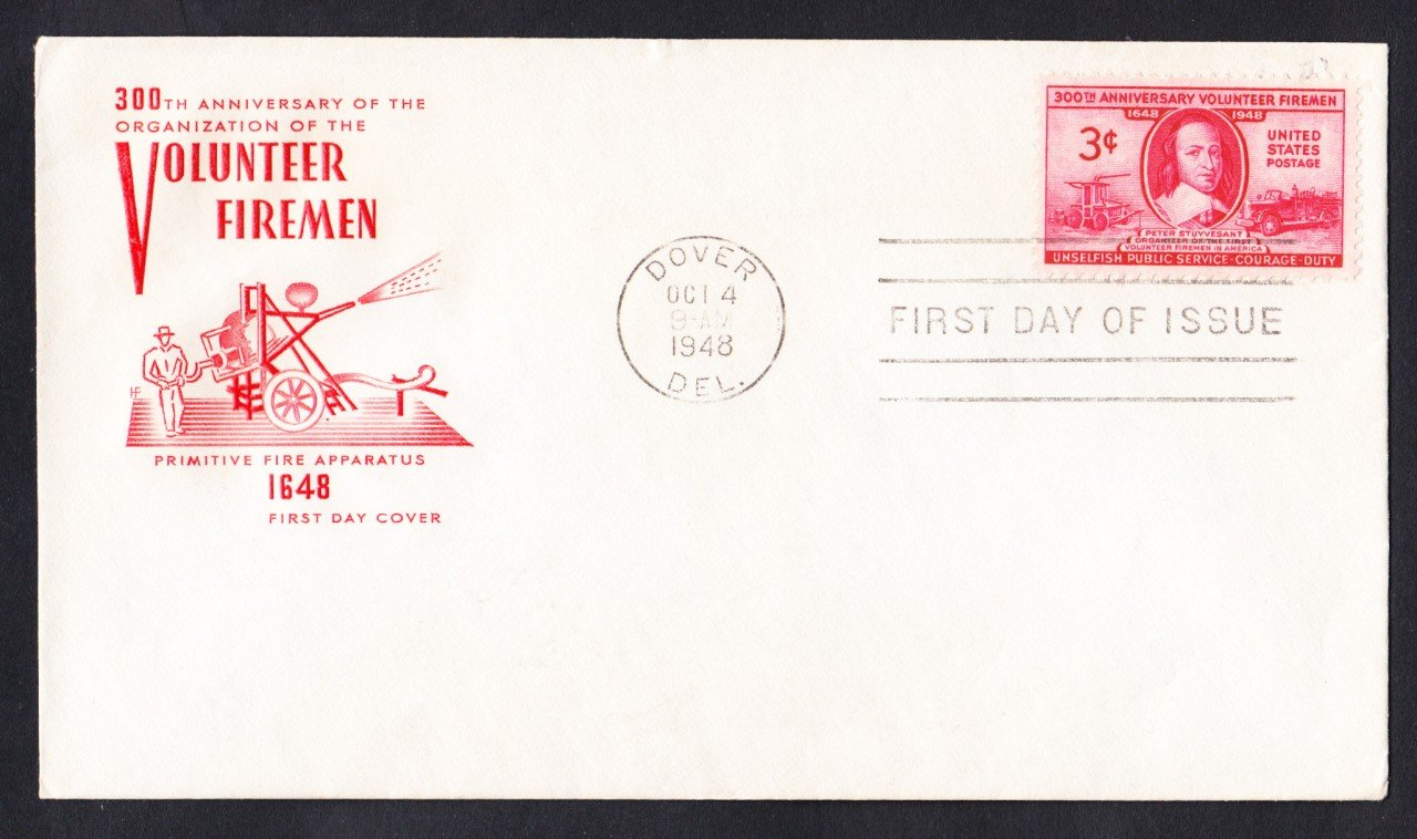 #971 VOLUNTEER FIREMEN Stamp First Day Cover