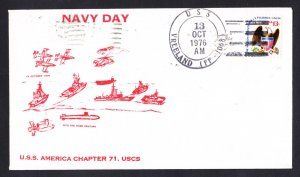 USS VREELAND FF-1068 Fancy Cancel Navy Day Naval Cover