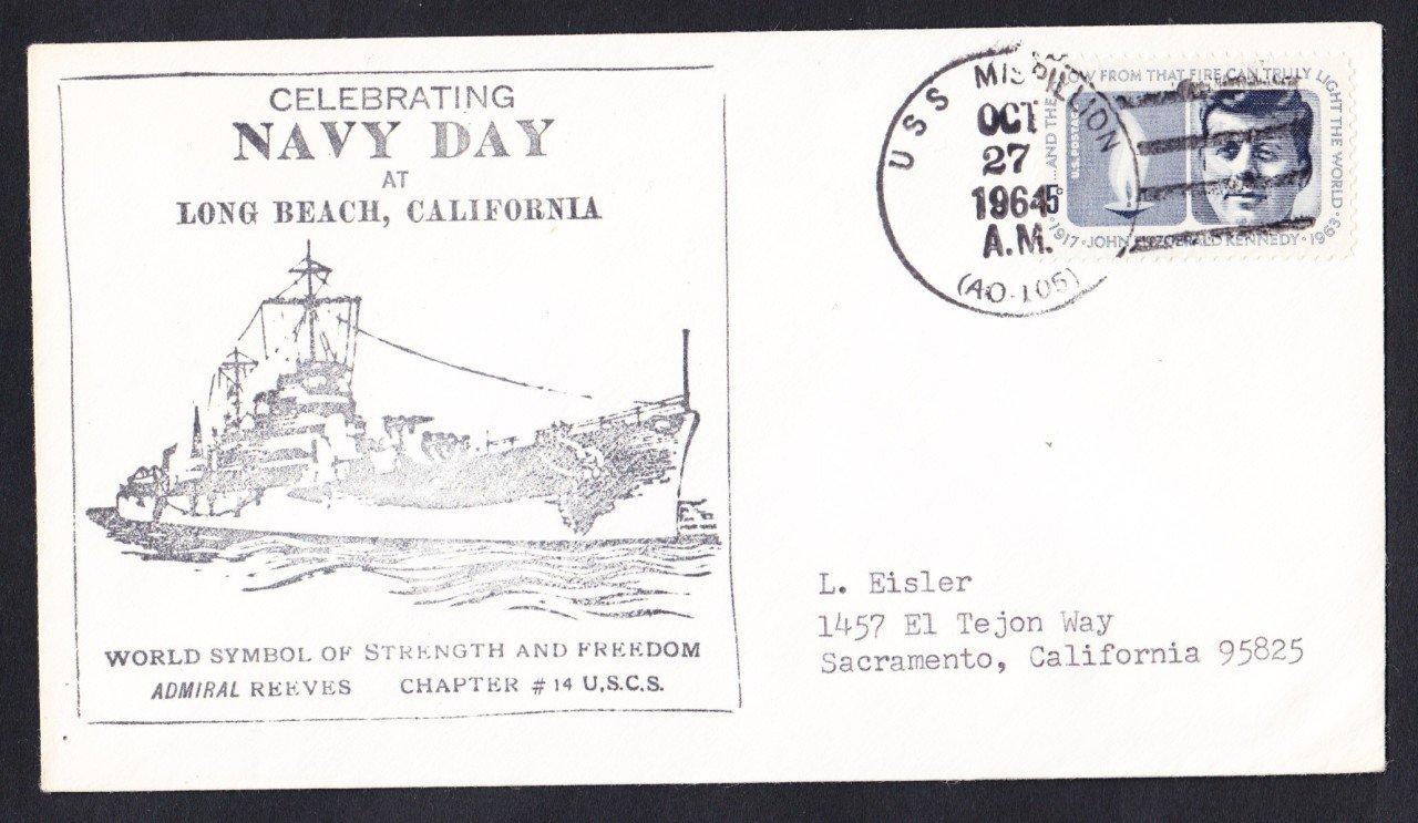 USS MISPILLION AO-105 Navy Day Naval Cover