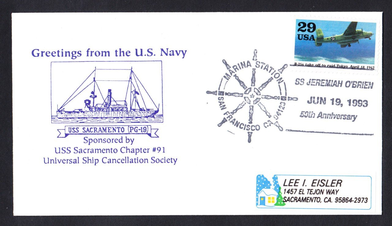 S.S. JEREMIAH O'BRIEN WWII Liberty Ship Naval Cover