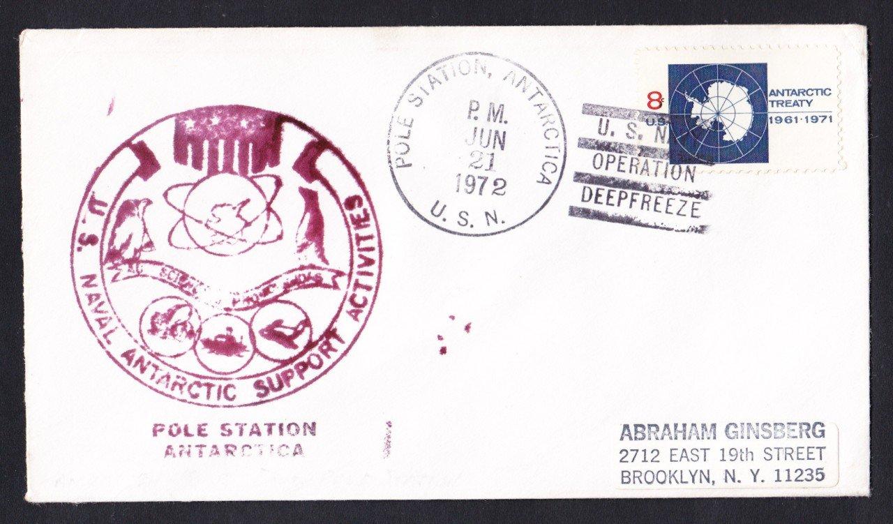 POLE STATION ANTARCTICA Deep Freeze 1972 Polar Cover