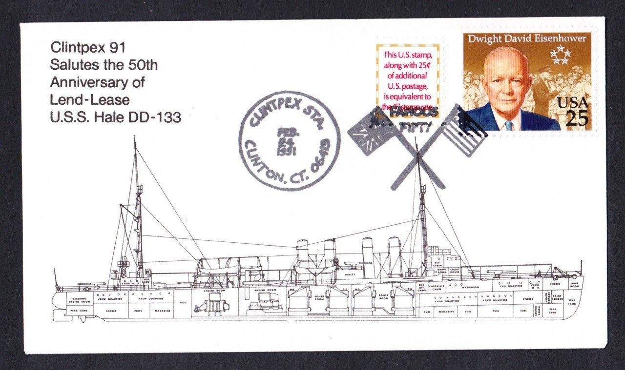 USS HALE DD-133 Anniversary Naval Cover