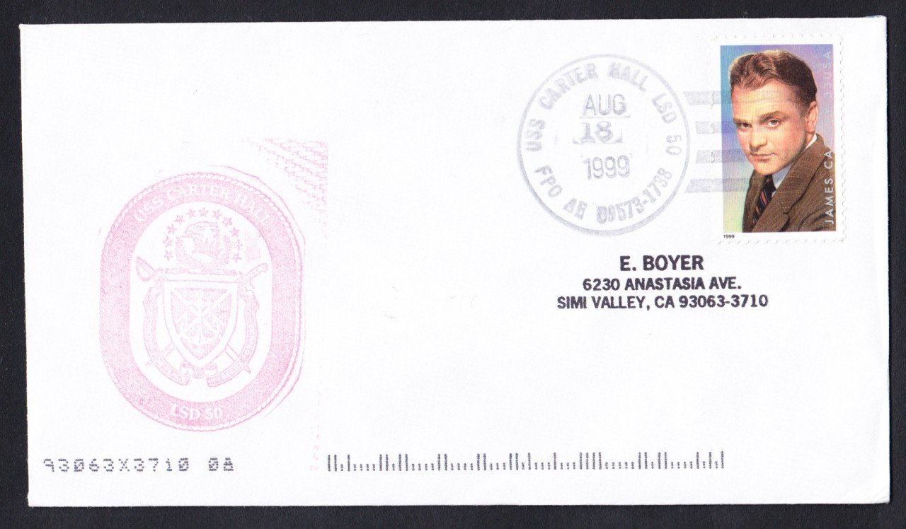 USS CARTER HALL LSD-50 Naval Cover