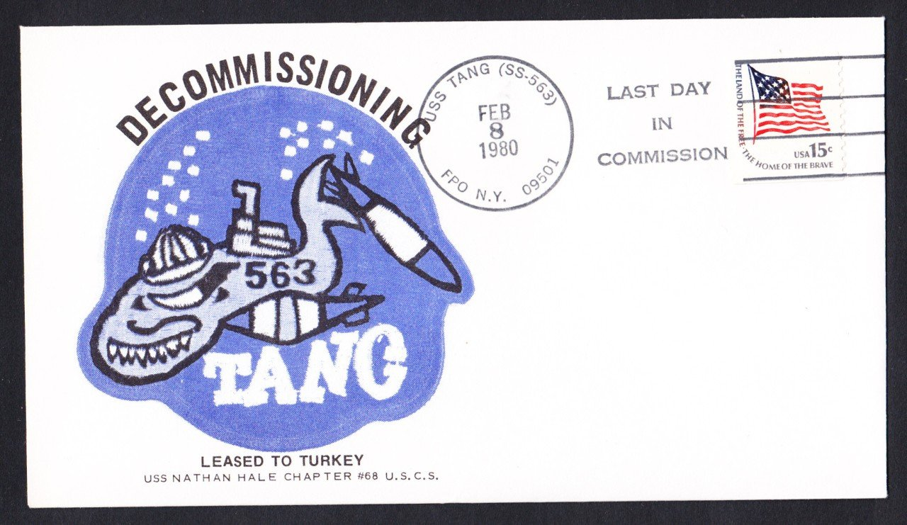 USS TANG SS-563 Decommissioning Naval Submarine Cover
