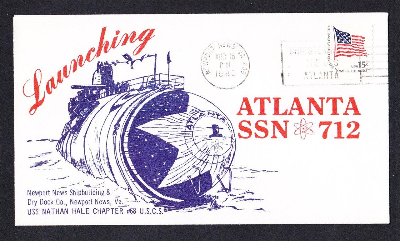 USS ATLANTA SSN-712 launching Naval Submarine Cover