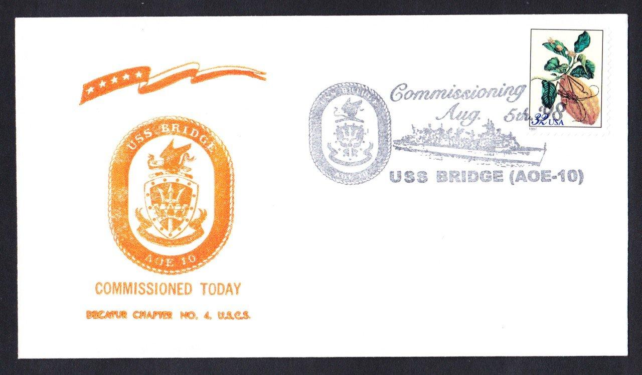 USS BRIDGE AOE-10 Commissioning Naval Cover