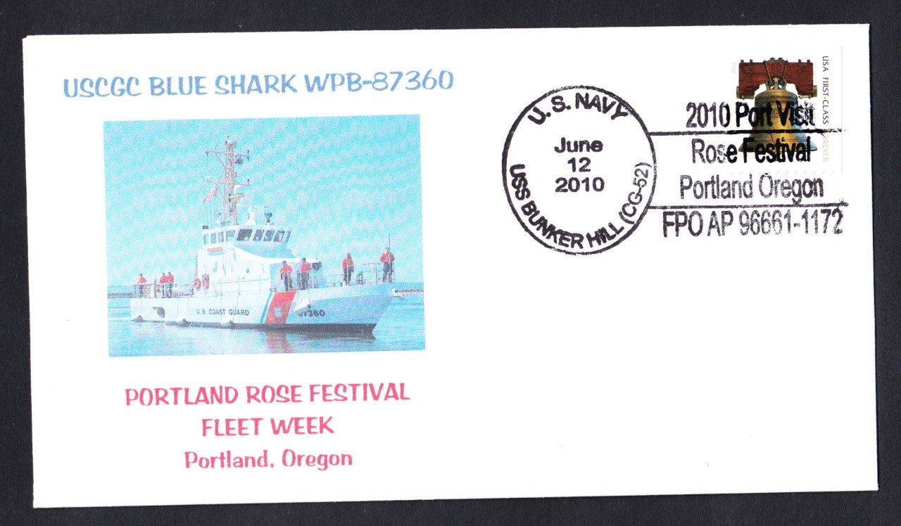 USCGC BLUE SHARK WPB-87360 Portland Naval Cover MHcachets ONLY 2 MADE