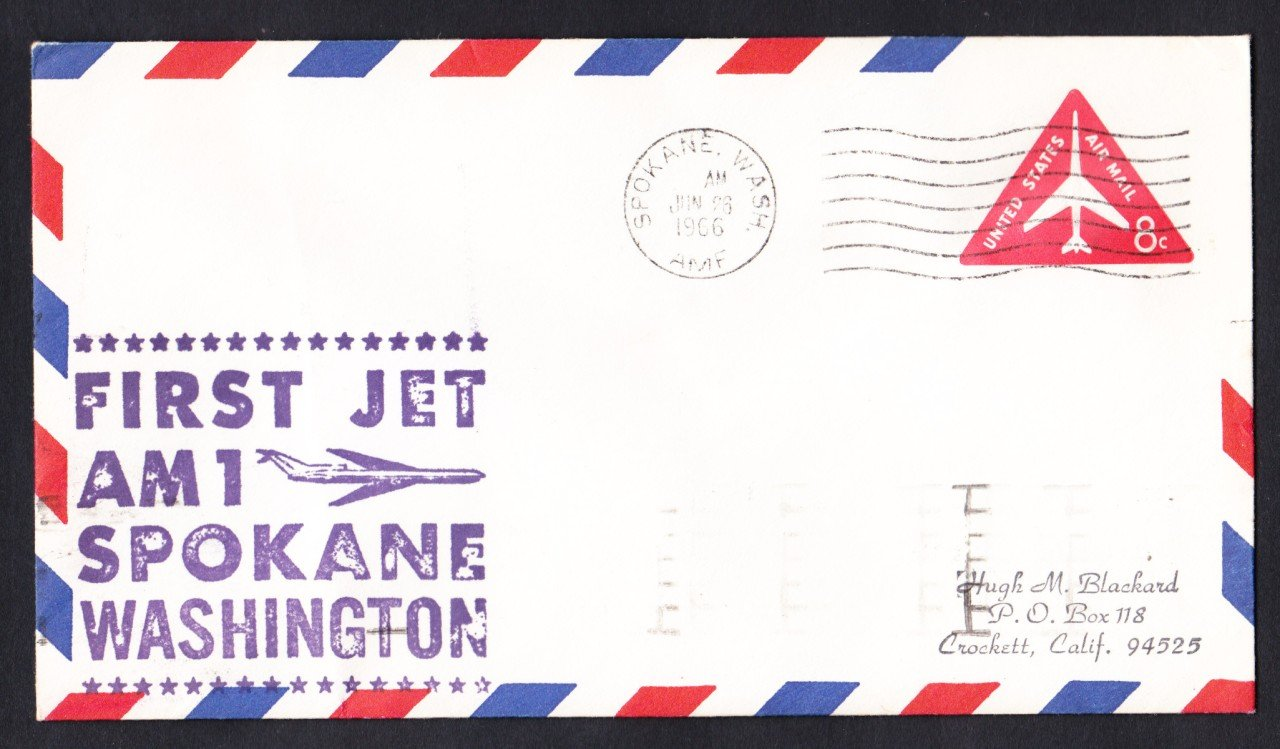 AM1 Spokane WA to San Francisco CA 1966 First Flight Cover