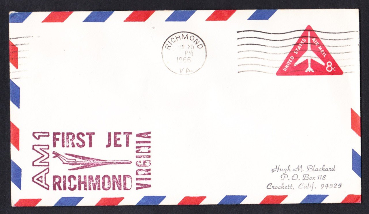 AM1 Richmond VA to Chicago IL 1966 First Flight Cover