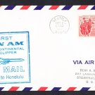 PAN AM AIRLINES Seattle WA to Honolulu HI 1959 First Flight Cover