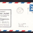 PAN AM AIRLINES Portland OR to Honolulu HI 1959 First Flight Cover