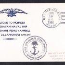 Uruguayan Navy COMANDANTE PEDRO CAMPBELL Naval Cover Norfolk VA