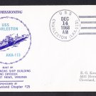 USS CHARLESTON LKA-113 Commissioning Naval Cover