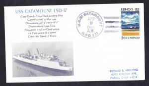 USS CATAMOUNT LSD-17 1968 Naval Cover MHcachets ONLY 1 Made