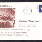 MARINER 9 SPACECRAFT Orbits Mars 1971 Space Cover