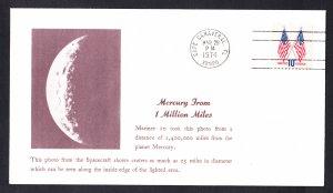 MARINER 10 SPACECRAFT Photographs Mercury 1974 Space Cover