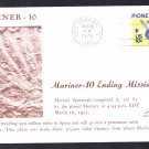 MARINER 10 SPACECRAFT Mission Ends 1975 Space Cover