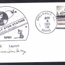 SPACE SHUTTLE CHALLENGER STS-6 Launch 1983 Space Cover