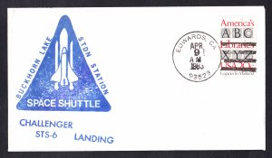 SPACE SHUTTLE CHALLENGER STS-6 Landing 1983 Space Cover