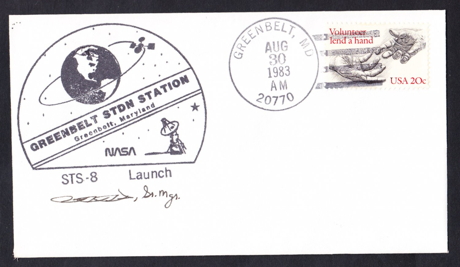 SPACE SHUTTLE COLUMBIA SPACELAB STS-9 Launch 1983 Space Cover