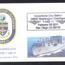 USNS WASHINGTON CHAMBERS T-AKE-11 Acceptance Day Naval Cover 4 Made