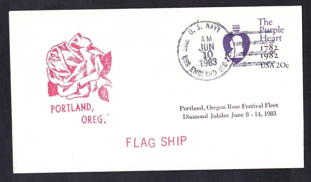 USS ENGLAND CG-22 Portland Rose Festival Naval Cover