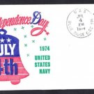 Amphibious Ship USS BLUE RIDGE LCC-19 Independence Day BECK #B921 Naval Cover