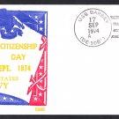 Destroyer Escort USS BARBEY DE-1088 Citizenship Day BECK #B949 Naval Cover