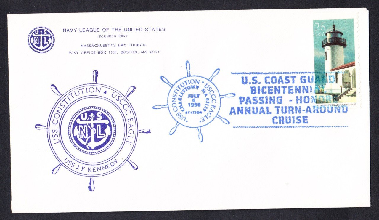 USS CONSTITUTION Turn Around Cruise 1990 Naval Cover