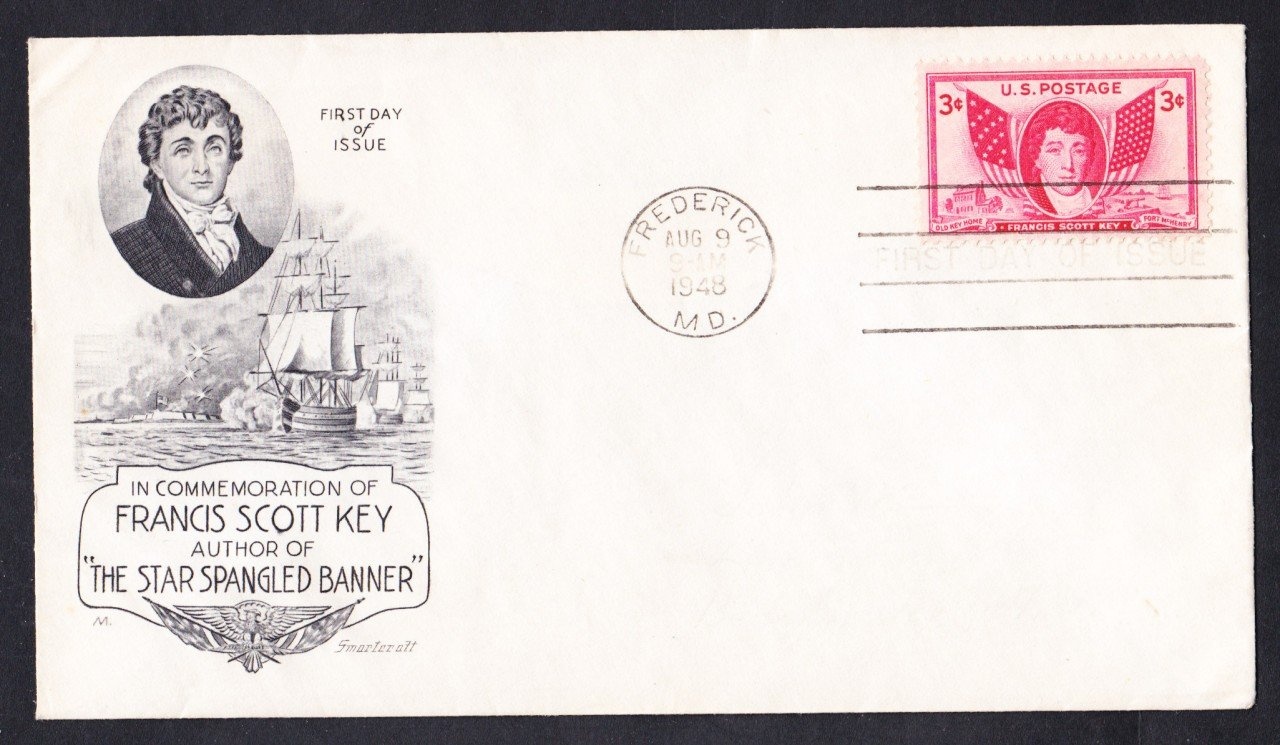 #962 FRANCIS SCOTT KEY Stamp Smartcraft First Day Cover