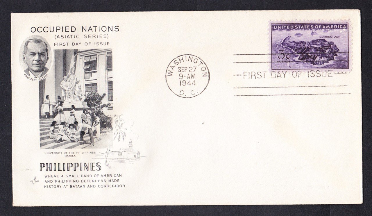 #925 WWII BATTLE OF CORREGIDOR Stamp First Day Cover