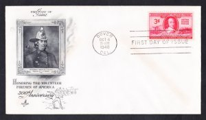 #971 VOLUNTEER FIREMEN OF AMERICA Stamp First Day Cover