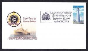 USS NASHVILLE LPD-13 Decommissioning Naval Cover Goodwin Cachet