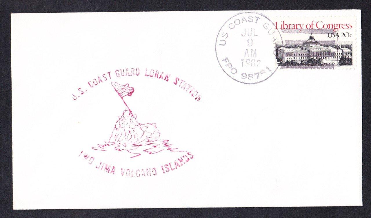 USCG LORAN STATION IWO JIMA Volcano Islands Naval Cover