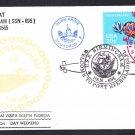 USS BIRMINGHAM SSN-695 Port Everglades FL Naval Submarine Cover