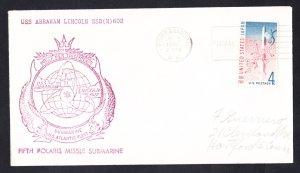 USS ABRAHAM LINCOLN SSBN-602 1961 Naval Submarine Cover