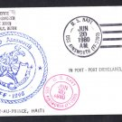 USS AINSWORTH FF-1090 Haiti to Port Everglades FL Naval Cover