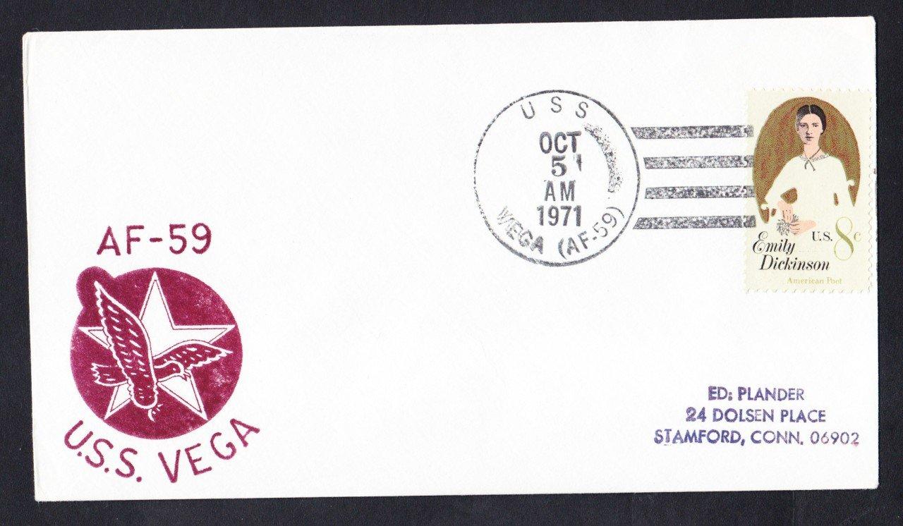 USS VEGA AF-59 Ship's Cachet Naval Cover