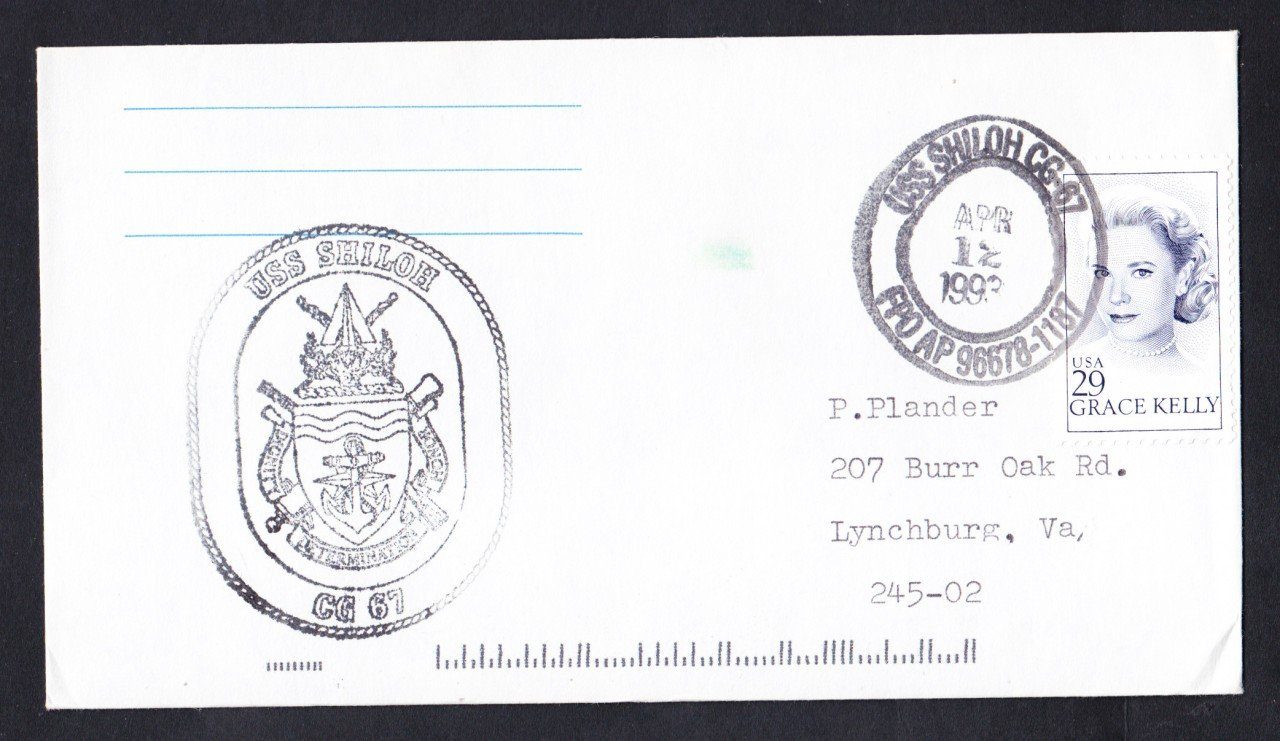 USS SHILOH CG-67 Ship's Cachet Naval Cover