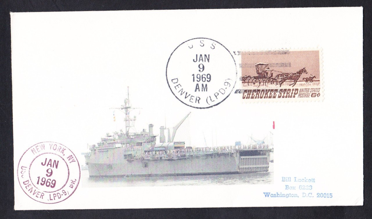 USS DENVER LPD-9 Naval Cover MhCachets Only 1 Made