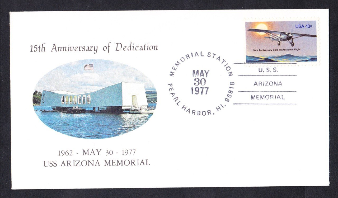 USS ARIZONA BB-39 Pearl Harbor Memorial Naval Cover
